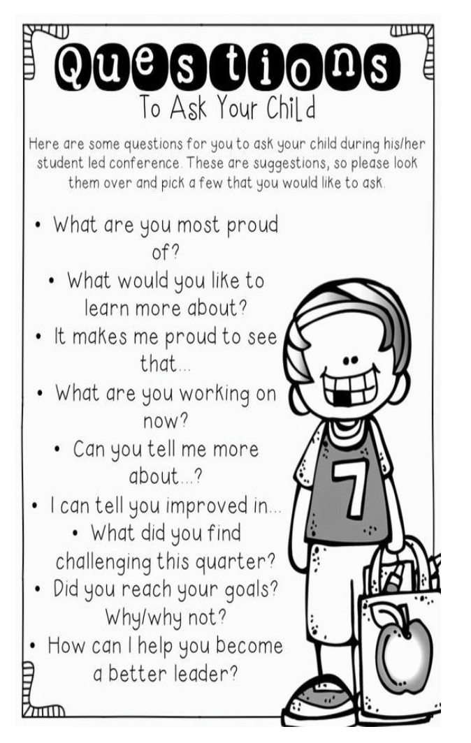 Great Questions to Start Conversations About School...